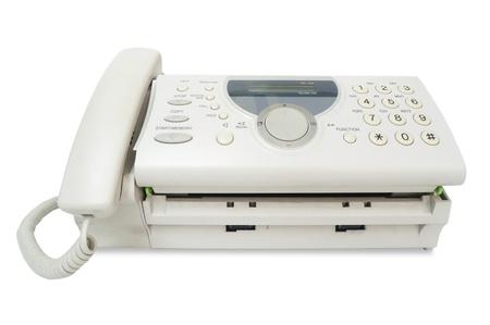 Fax isoliert auf weiß