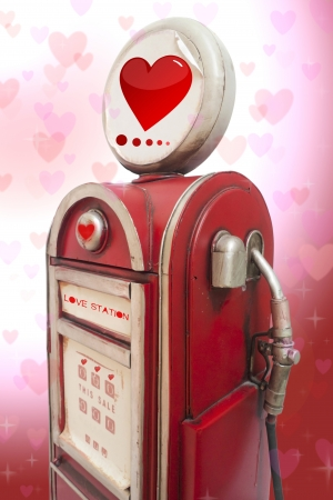 Love station,Valentine day. Stock Photo