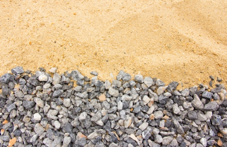 Crushed stones and sands in the background Stock Photo