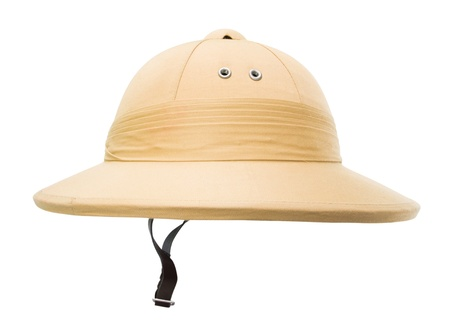 pith helmet cut out on a white background
