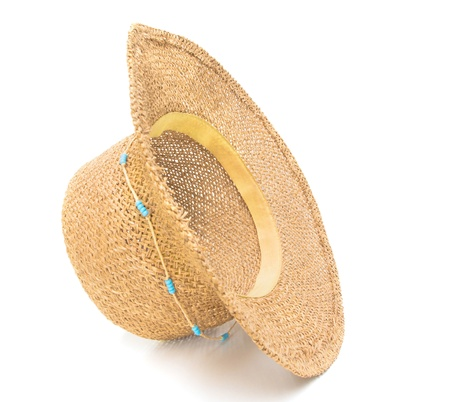 Summer ladies hat isolated on white background