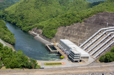 The power station at the Srinakarin Dam in Thailand  photo