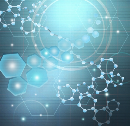 Molecules and Science Research ,Concept. Stock Photo