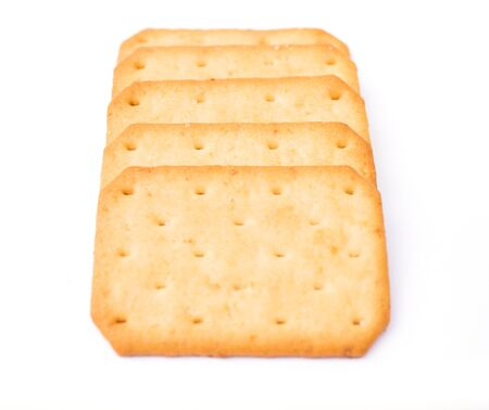 Cracker isolated on white background .