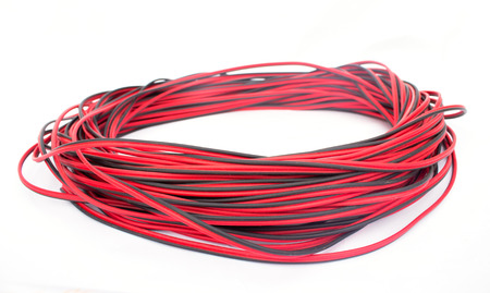 red electric wire  photo