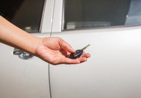 Hand with a Car keys. Stock Photo