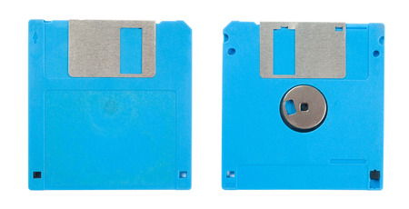 salvaging: Magnetic floppy disc icon for computer data storage