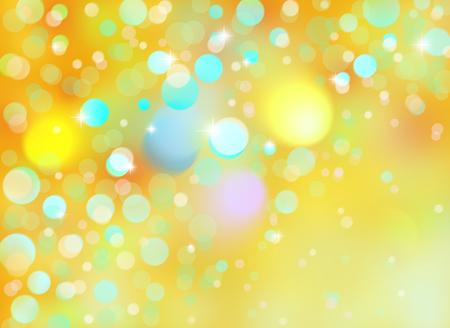 Christmas with stars and bokeh lights