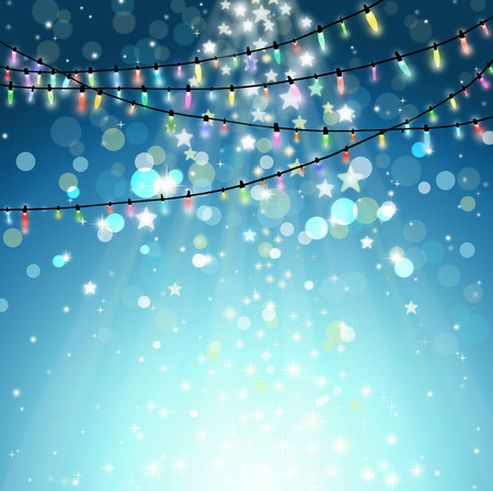 Christmas with bokeh and Christmas lights.