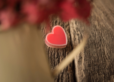 Valentines Day background with hearts and flower.