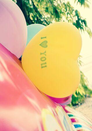 heart balloon: Love Heart Balloon in party.