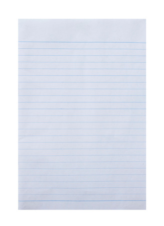 college ruled: notebook paper background on white background.