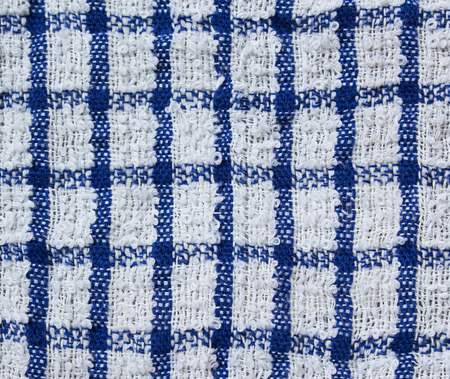 terrycloth: Blue towel useful as a background pattern.