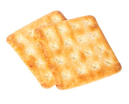 Cracker isolated on white background .