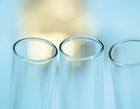 laboratory research: Test tubes closeup ,Laboratory research Stock Photo
