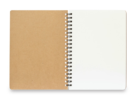 Blank Spiral Notebook isolated on a White Background with clipping path 版權商用圖片 - 42284954