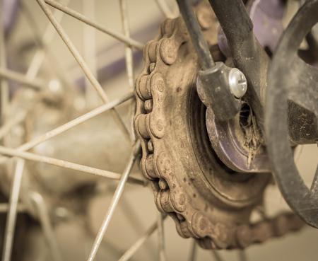 shocks: Detail of Bike,vintage background