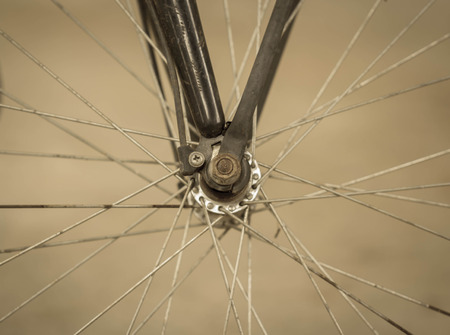 shocks: Detail of Bike,vintage background