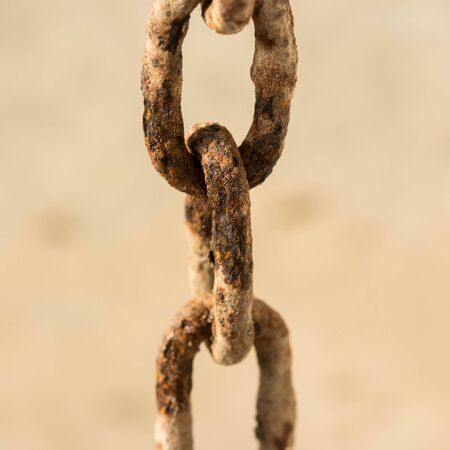 rusty chain: close up of rusty old chain.