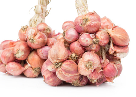 aftertaste: bunch of red onion isolated on white