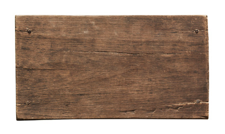 distressed background: Old plank of wood isolated on white background with Clipping Path.