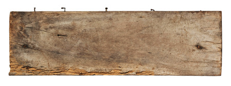 Old plank of wood isolated on white background with Clipping Path.