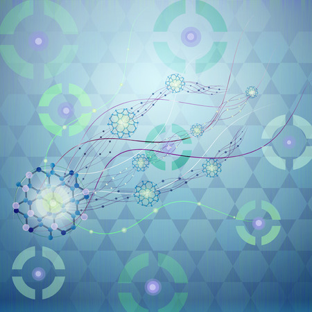 dendrites: Molecules and Science Research ,Concept. Stock Photo