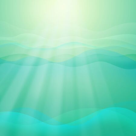 abstract template: Green Light Wave Abstract Background