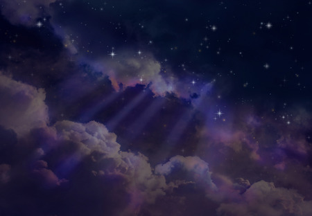 pleiades: Stars in the night sky Stock Photo