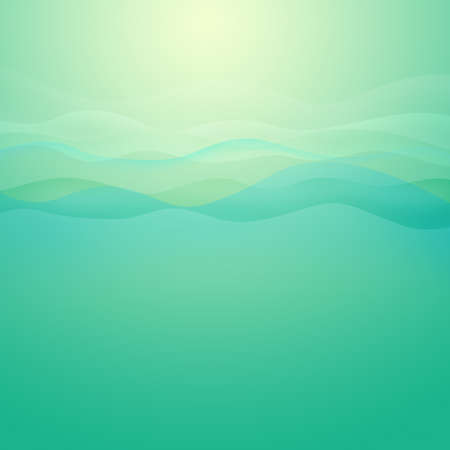 light wave: Luce Green Wave sfondo astratto