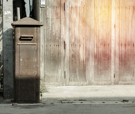 letter box: Old Letter Box in thailand. Stock Photo