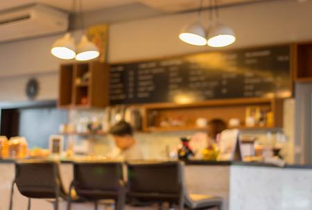 bar interior: Coffee shop blur background.
