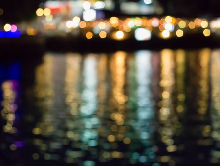 river side: River side at twilight time, Blurred Photo bokeh