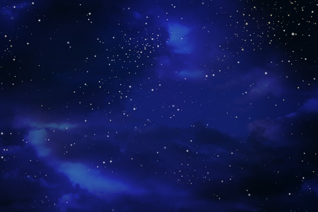 Stars in the night sky Archivio Fotografico