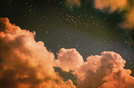 Stars in the night sky Stockfoto