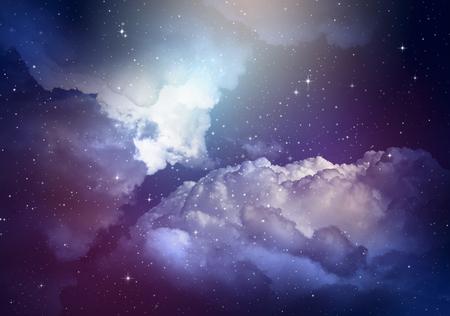 pleiades: Stars in the night sky,nebula and galaxy