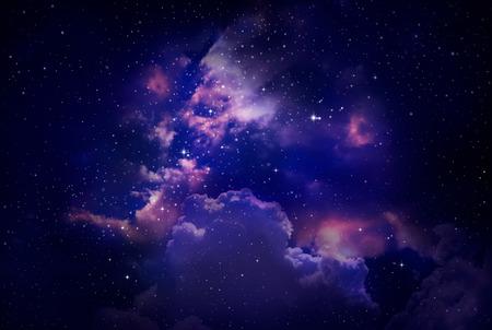 nacht: Sterne in den Nachthimmel, Nebel und Galaxie