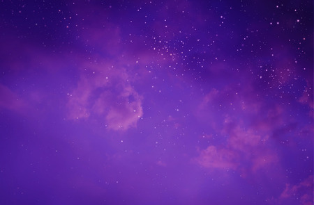 purple abstract: Stars in the night sky Stock Photo
