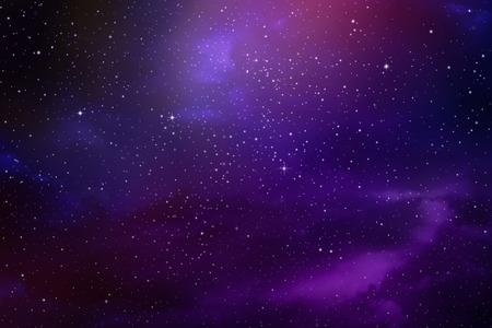 Estrellas en el cielo nocturno, nebulosa y la galaxia Foto de archivo - 44540247