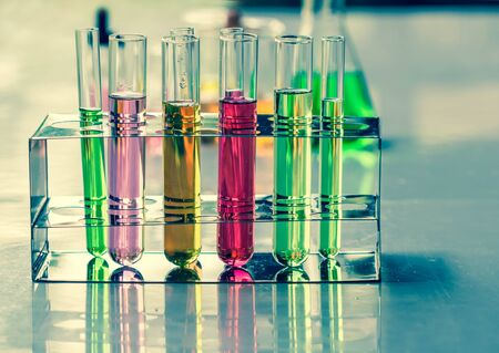 Test tubes ,Laboratory research.