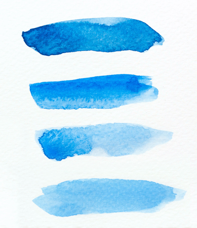 ombre: Watercolor Ombre brush Background. Watercolor Wash.Watercolor blue background.