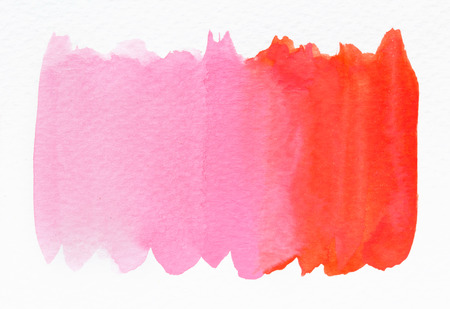 Pink wet Watercolor Wash. Watercolor Background. Ombre Watercolor. Banco de Imagens