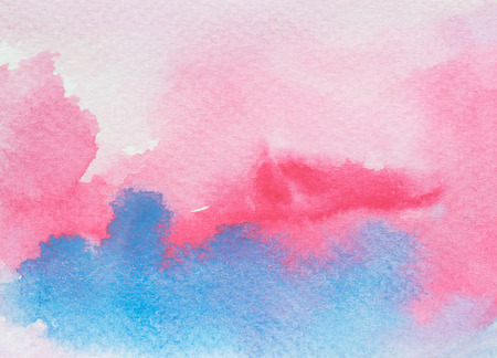 ombre: Watercolor Ombre Background. Watercolor Wash.Watercolor pink and blue background.