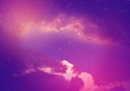 pleiades: Stars in the night sky,purple background.
