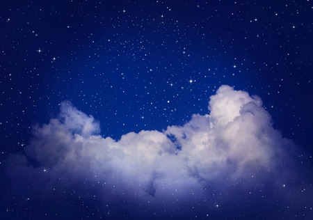 the pleiades: Stars in the night sky Stock Photo