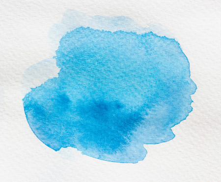 ombre: Blue wet Watercolor Wash. Watercolor Background. Ombre Watercolor.