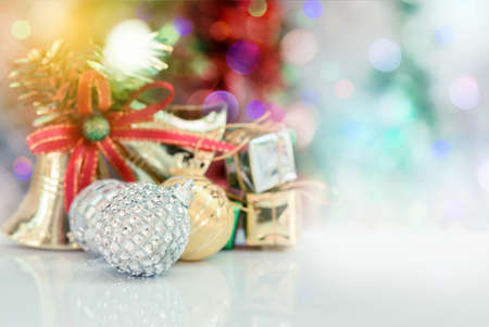 crystal background: Christmas background with ornament, crystal ,gift box,