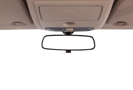 mirror: Car rear view mirror inside the car.