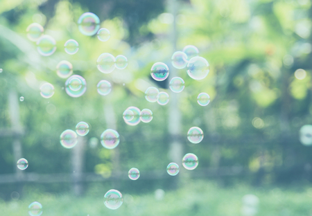 Rainbow bubbles ,Abstract soap bubble background.