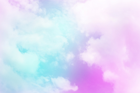 Colorful sky and pastel color with cloud background. Stok Fotoğraf